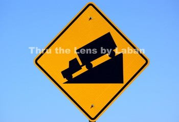 Truck Downhill Sign Stock Photo #126