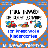 Truck File Folder Activities for Preschool and Kindergarten