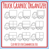 Truck Graphic Organizer Template - Divided Truck Clip Art for Commercial Use