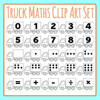 Truck Maths / Counters Clip Art Set for Commercial Use