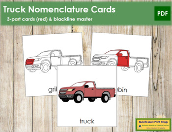 Truck Nomenclature Cards (Red)