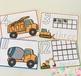 Truck Playdough Number Mats