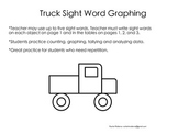 Truck Sight Word Graphing