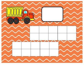 Truck Ten-Frame Mats Numbers 1-20