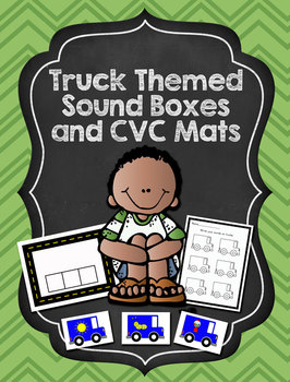 Truck Themed Sound Boxes and CVC Word Mats