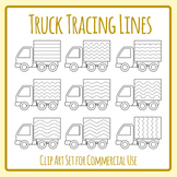 Truck Tracing Practice Lines - For Pencil Control or Left to Right Progression