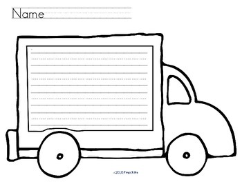 Truck Writing Paper