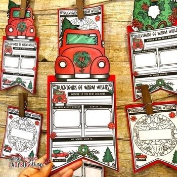 Truckloads Winter Writing Prompts Teach-Go Pennant™ Winter Bulletin Board