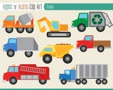 Trucks Clip Art - color and outlines