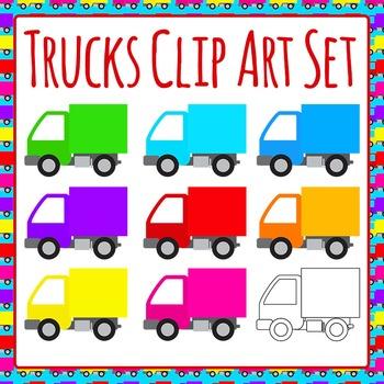 Trucks Commercial Use Clip Art Set