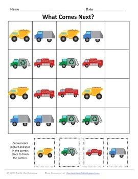 Truck Preschool Pack