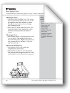 Trucks (Real or Make-believe): Book Report Form