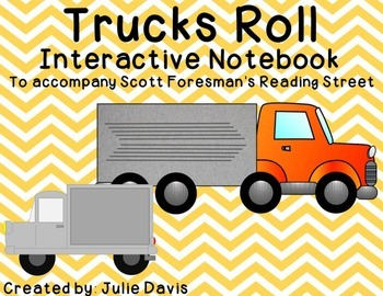 Trucks Roll Interactive Notebook Journal