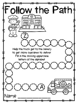 Trucks Roll, Kindergarten, Centers for all ability levels