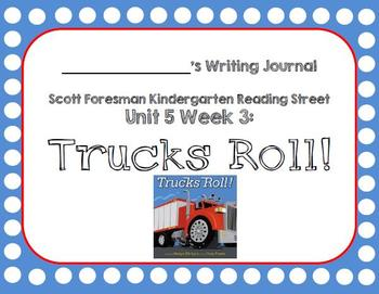 Trucks Roll Writing Journal with Word Dictation (Kdg Readi