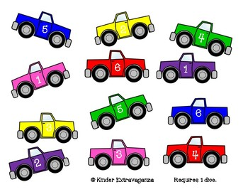 Trucks and Cars Math Games