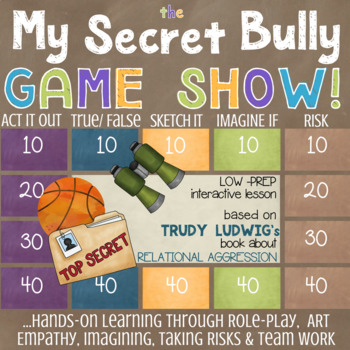 Trudy Ludwig's MY SECRET BULLY: Relational Aggression School Counseling Lesson