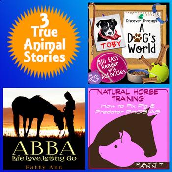 Animal Stories > 3 True Horse, Dog & Pig Stories = Family Packed for $AVING$ !!