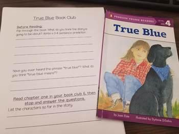 True Blue Book Club Packet