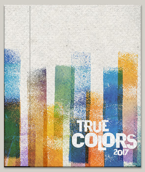 True Colors 2017 Yearbook Cover Design