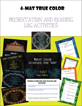 True Colors 4-MAT Reading Logs and Presentation