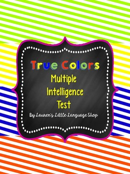 True Colors Multiple Intelligence Test