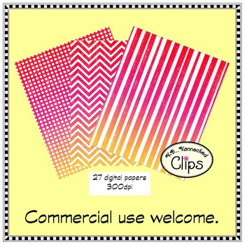 True Colors Paper Collection (distressed/ombre brights)