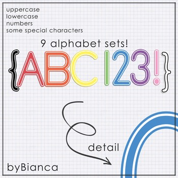 True Colors {alphabet} - commercial use