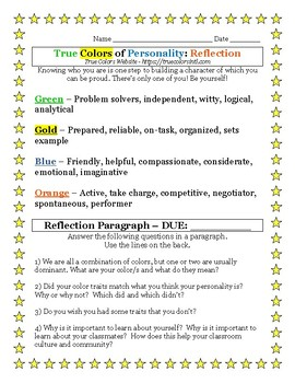True Colors of Personality: Reflection
