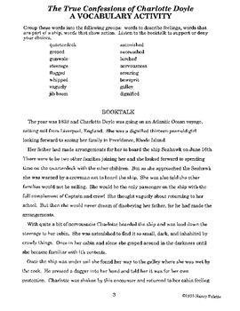 True Confessions of Charlotte Doyle Literature Guide