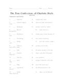 True Confessions of Charlotte Doyle Unit Test