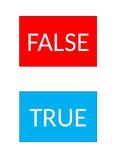 True False Cards