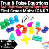 True & False Equations & Equal Sign: 1.OA.D.7 Common Core Math