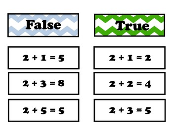 True / False Fact Game for 2 facts