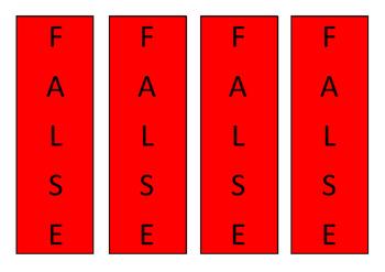 True/ False Flashcards