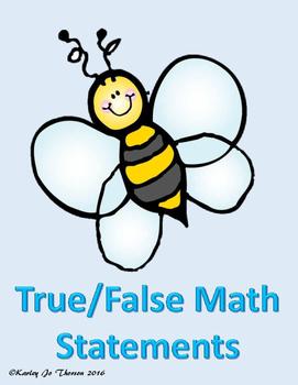 True/False Math Statements