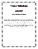 True False Popsicle Stick Sign