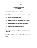 True/False Question Sheet for The Magic School Bus - In th