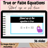 True False equations within 20 and 10 Google Slides Stand