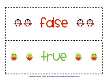 True / False with the equal sign - Common Core 1.OA.7