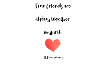 True Friends Are Always Together In Spirit Prints