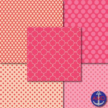 True Love Valentine's Day Digital Papers Mega Pack
