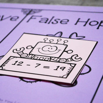 True Love or False Hope Addition & Subtraction Math Center- First & Second Grade