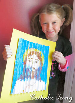 True Presence of Jesus in the Eucharist (Jesus to Monstrance Zig Zag Craft)
