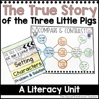 True Story of the Three Little Pigs Literacy Unit