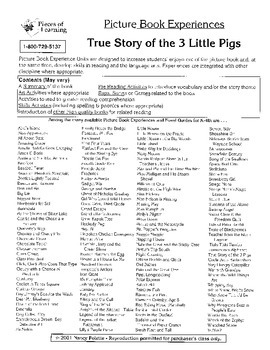 True Story of the Three Little Pigs Literature Guide