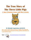 True Story of the Three Little Pigs Story Elements