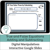 True and False Equations Adding and Subtracting within 20