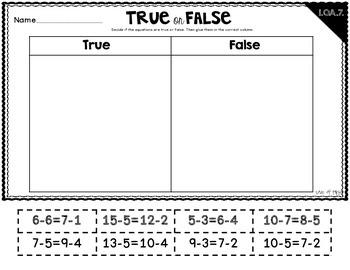 True or False Equations