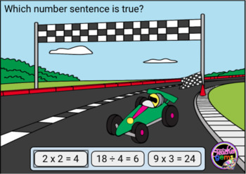 True and False Equations Multiplication and Division Digital Boom Cards Set 2